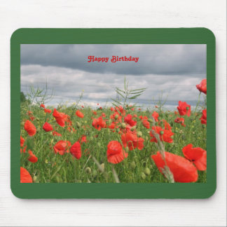 "Field of flowers ""Happy Birthday"" Mousepad"