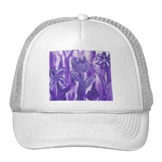 Field of Flowers in Purple Mesh Hats