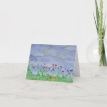 FIELD OF FLOWERS notecard