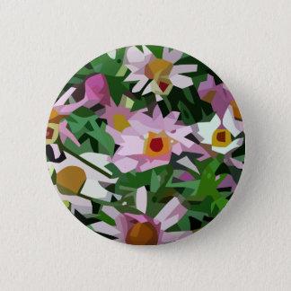 Field of flowers pinback button