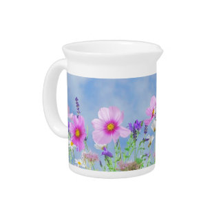 Field of Flowers Pitcher