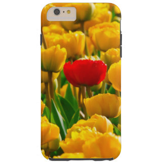 Field Of Flowers, Red And Yellow Tulips Tough iPhone 6 Plus Case