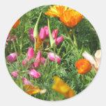 Field of Flowers Round Sticker