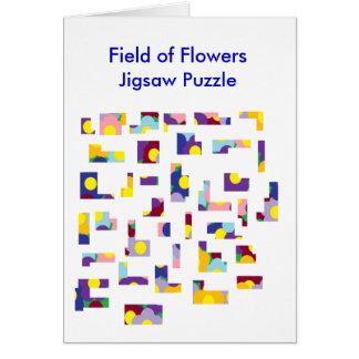 Field of FlowersJigsaw Puzzle Greeting Card