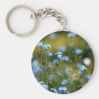 Field of Forget-Me-Not Flowers Keychain