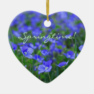 Field of Forget Me Nots Christmas Tree Ornaments