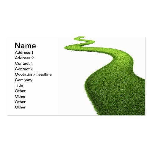 Field Of Fresh Green Grass Business Card Templates