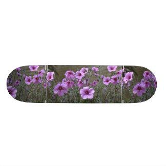 Field of Geraniums Skateboard Deck