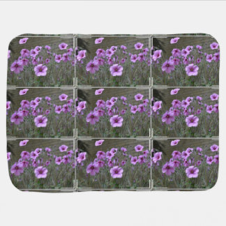 Field of Geraniums Stroller Blanket