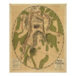 Field of Gettysburg, July 1st, 2nd & 3rd, 1863 Print