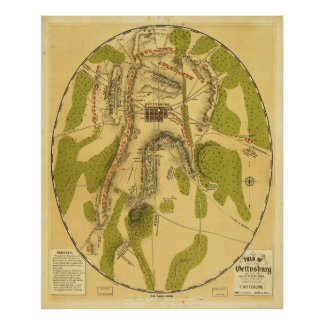 Field of Gettysburg July 1st 2nd 3rd 1863 Poster