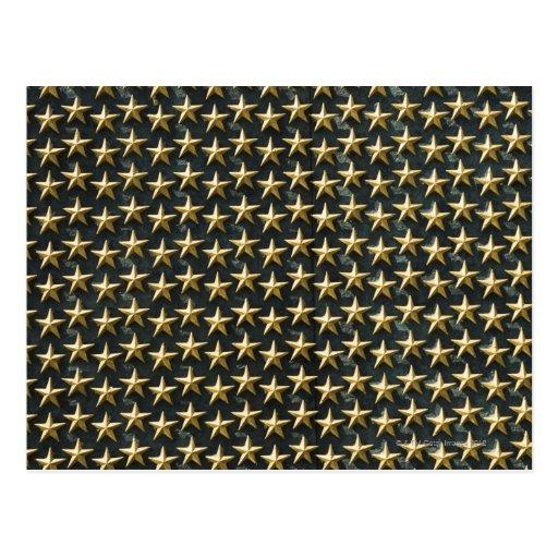 Field of gold stars at World War II Memorial Postcard