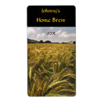 Field of Grain Beer Label Shipping Label