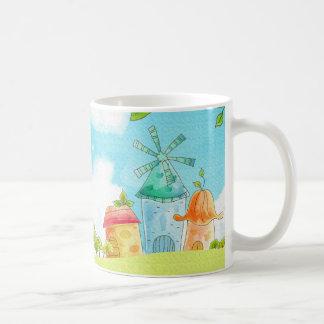 field of green coffee mug