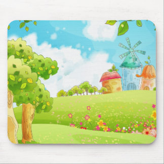 field of green mouse pad