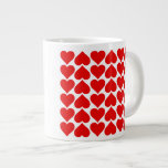Field of Hearts 20 Oz Large Ceramic Coffee Mug