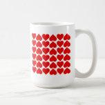 Field of Hearts Classic White Coffee Mug