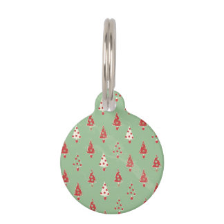 Field of Holiday Trees Pet Nametag