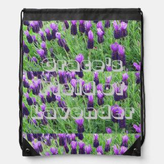 Field of Lavender Drawstring Backpack