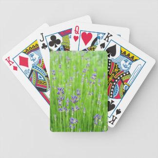 Field of Lavender Bicycle Poker Deck
