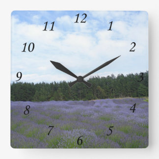 Field of Lavender Square Wall Clock