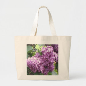 Field of Lilacs Book Bag bag