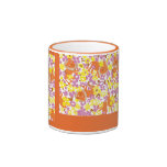 Field of Lions and Flowers Mugs
