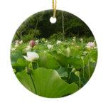 Field of Lotus Flowers Ceramic Ornament