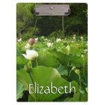 Field of Lotus Flowers Clipboard