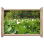 Field of Lotus Flowers Serving Tray