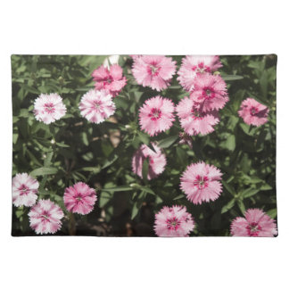 field of pink flowers placemats