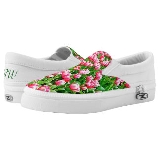 Field of Pink Tulips Printed Shoes
