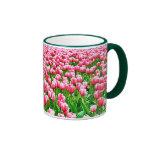 Field of Pink Tulips Ringer Mug