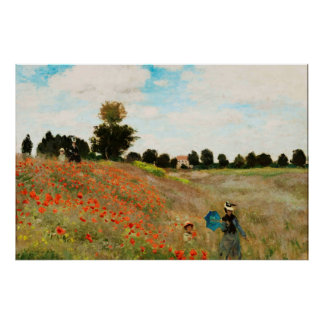 Field of Poppies, 1886 Poster