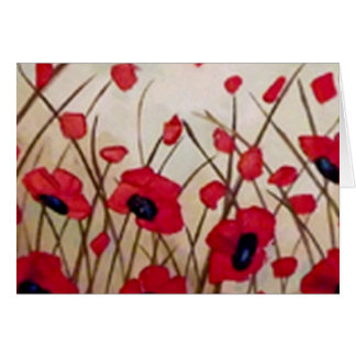 """Field of Poppies 1"", Painting by Linda Powell Card"