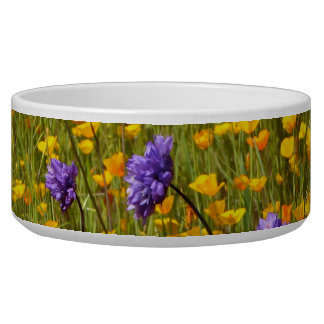 Field of Poppies and Wildflowers Pet Bowl