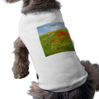 Field of Poppies by Pal Szinyei Merse Doggie Shirt