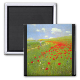 Field of Poppies by Pal Szinyei Merse Refrigerator Magnet