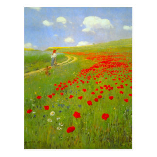 Field of Poppies by Pal Szinyei Merse Postcard