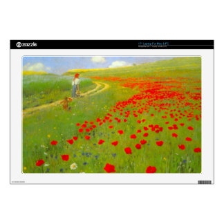 Field of Poppies by Pal Szinyei Merse Laptop Decals