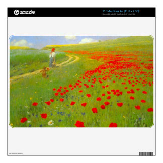 """Field of Poppies by Pal Szinyei Merse 11"""" MacBook Air Decals"""