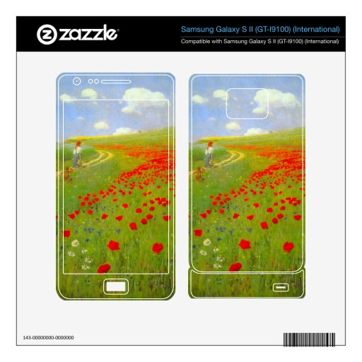 Field of Poppies by Pal Szinyei Merse Samsung Galaxy S II Decal
