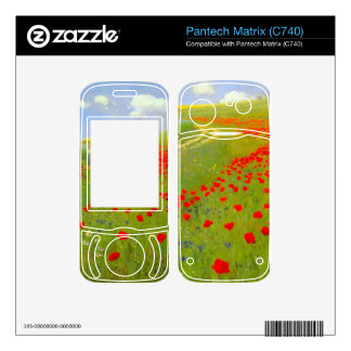 Field of Poppies by Pal Szinyei Merse Skin For Pantech Matrix
