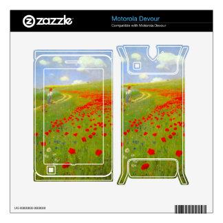 Field of Poppies by Pal Szinyei Merse Motorola Devour Decals