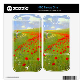 Field of Poppies by Pal Szinyei Merse Skins For HTC Nexus One