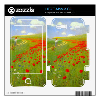 Field of Poppies by Pal Szinyei Merse Skin For HTC T-Mobile G2
