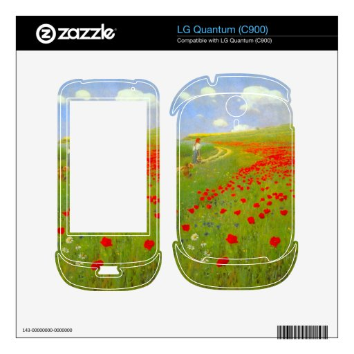 Field of Poppies by Pal Szinyei Merse Decals For LG Quantum