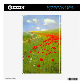 Field of Poppies by Pal Szinyei Merse Decal For Sony Reader