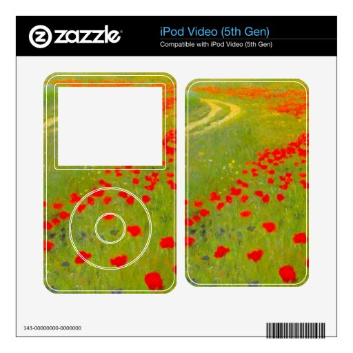 Field of Poppies by Pal Szinyei Merse iPod Video 5G Skin