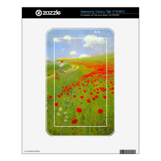 Field of Poppies by Pal Szinyei Merse Samsung Galaxy Tab Skins
